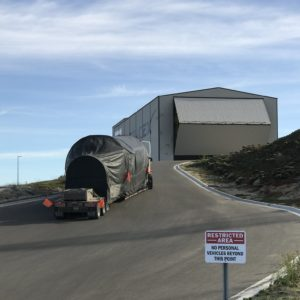 Druhý stupeň Falconu dorazil do hangáru ve Vandenbergu